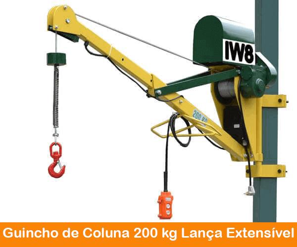 Guincho 200kg lança extensivel