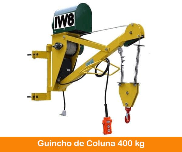 Guincho Elétrico de Coluna 400kg Cabo Duplo