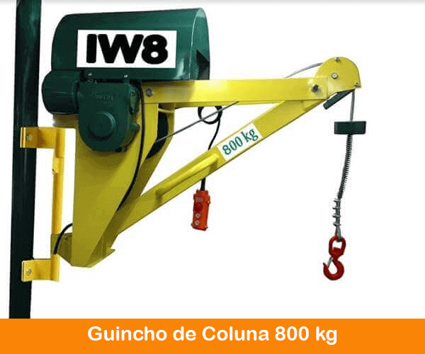 Guincho Elétrico de Coluna para Obra 800kg