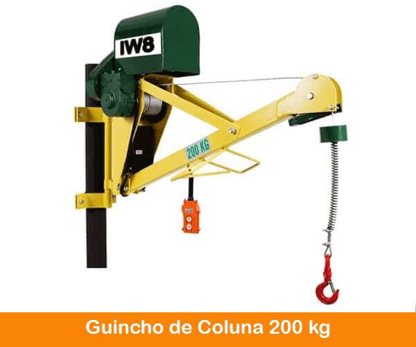 Guincho de Obra Elétrico de Coluna 200kg